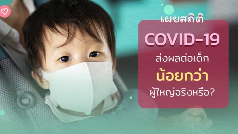 เผยสถิติ COVID-19 ส่งผลต่อเด็ก น้อยกว่า ผู้ใหญ่จริงหรือ?