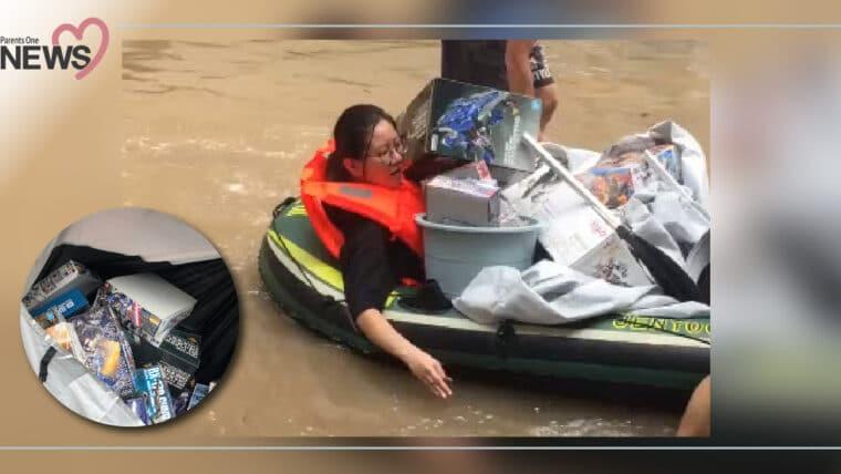 NEWS: สุดยอดภรรยาแห่งปี! หอบกันดั้มหนีน้ำให้สามี ว่ายย้อนแม่น้ำแยงซีเกียง