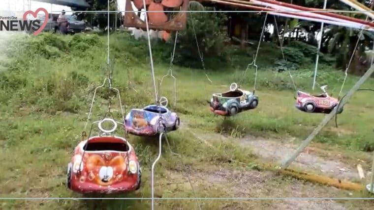 NEWS: พ่อแม่ต้องระวัง เครื่องเล่นม้าหมุนไฟรั่ว พ่อถูกไฟช็อตแทนลูก